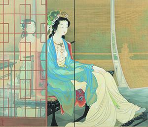 上村松園「楊貴妃」大正11(1922)年